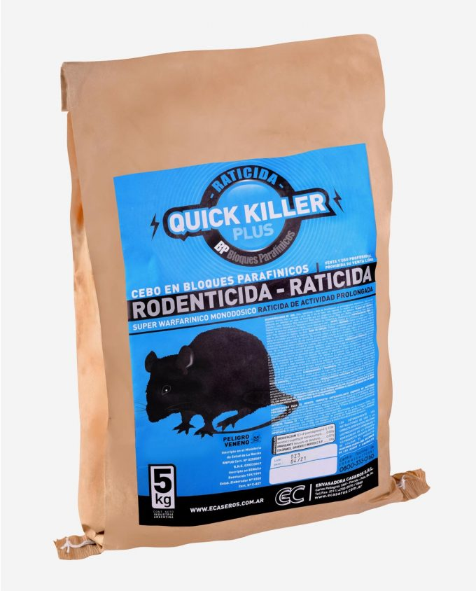 Quick Killer Plus BP - Raticida Brodifacoum