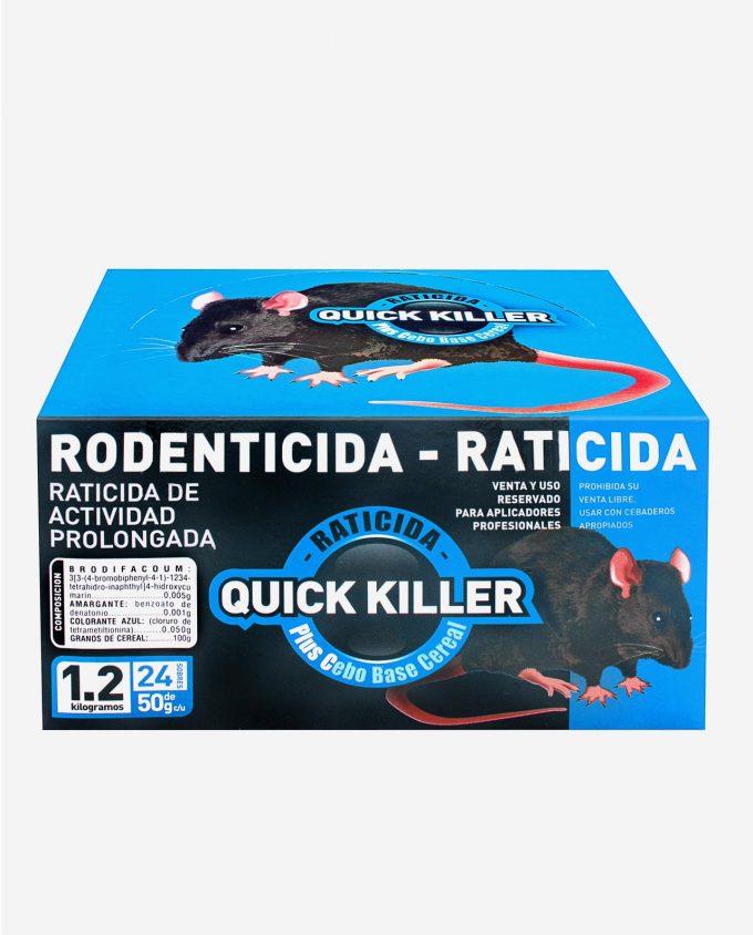 Quick Killer Plus C - Raticida Base Cereal - Brodifacoum